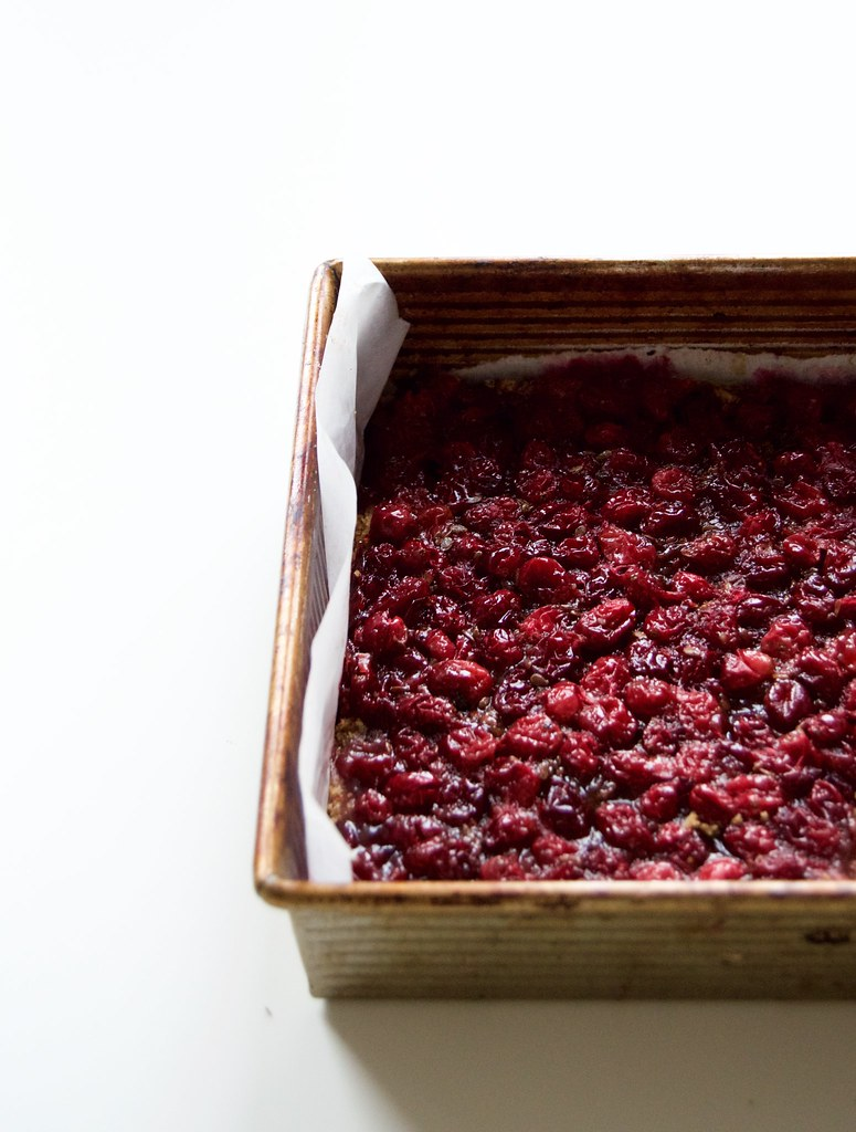 Caramel Cranberry Bars