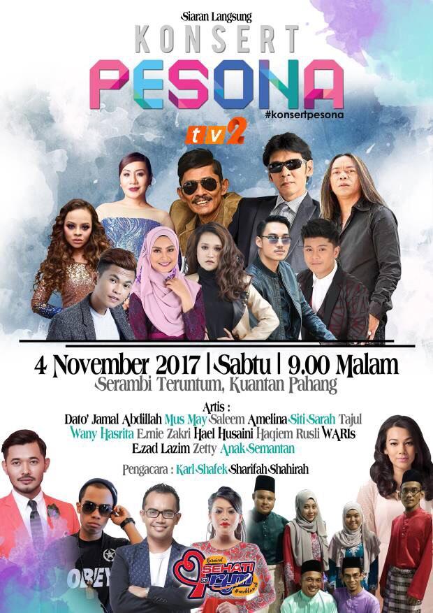Poster Konsert Pesona Di Tv2