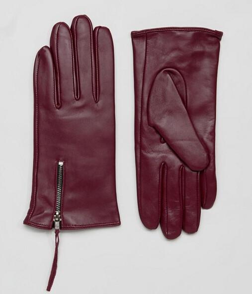 ASOS перчатки бордовые 1