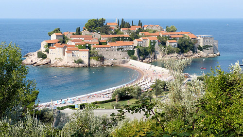monténégro crnagora svetistefan ile mer adriatique plage architecture