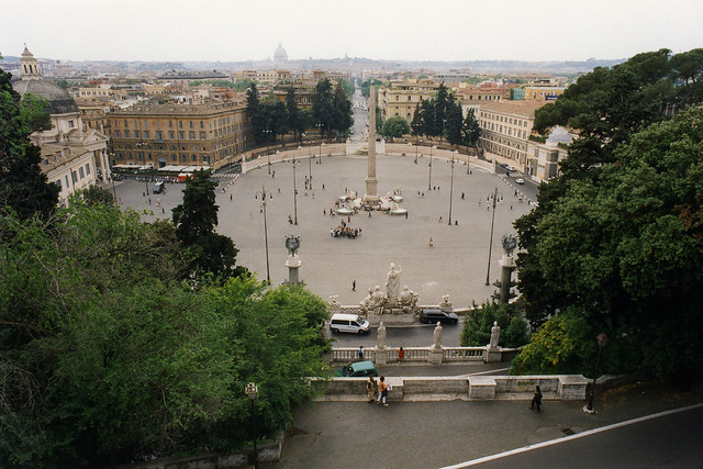 Piazza del Popolo from the Pincian Hill
