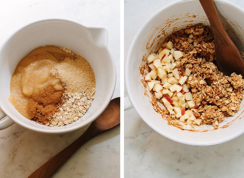 3 INGREDIENT APPLE CINNAMON OATMEAL BREAKFAST COOKIES