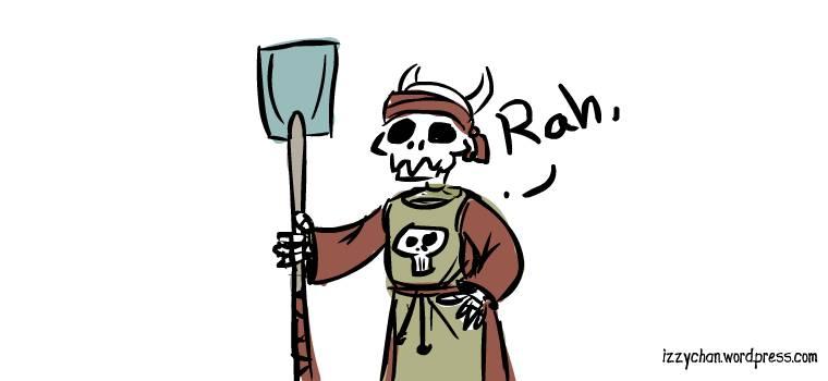 drawlloween skeleton grave digger