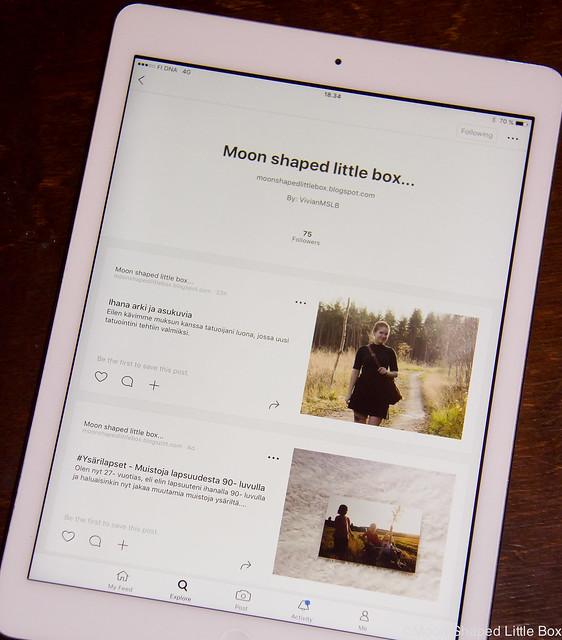 Bloglovin Sovellus iPad Blogin seurantatavat blogien seuraaminen sovellukset kokemuksia paras sivusto blogien seuraamiseen