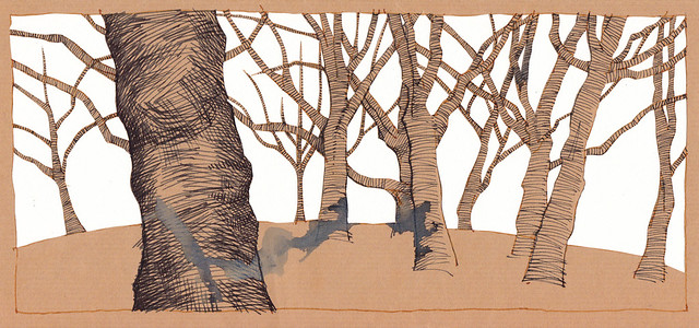 Jewellery Quarter Trees 3 - with paper-cutting