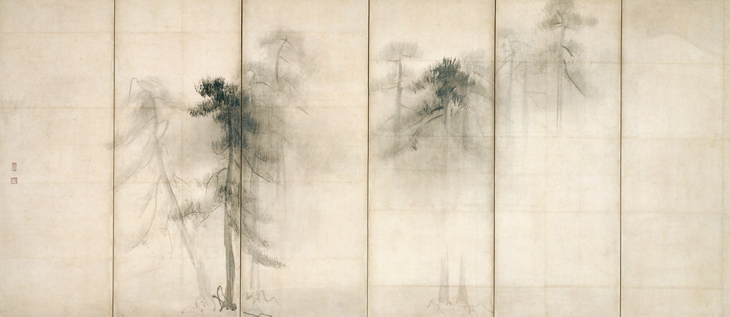 国宝《松林図屏風(左隻)》長谷川等伯筆(桃山時代・16世紀、東京国立博物館、~11月12日展示)
