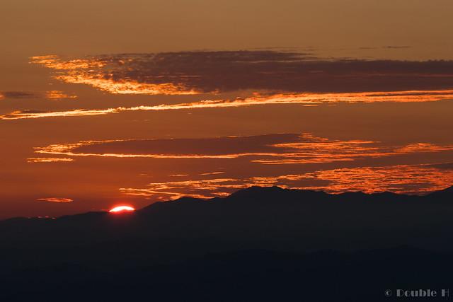 Shinhotaka Ropeway 2017.10.27 (44) sunset view from Nishi-Hotaka-guchi Station