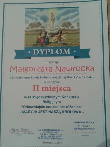 II Miejsce Małgosi Nawrockiej w konkursie religijnym