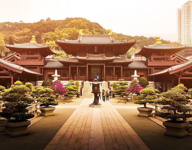 Chi Lin nunnery, Hong Kong #hongkong #asia #city