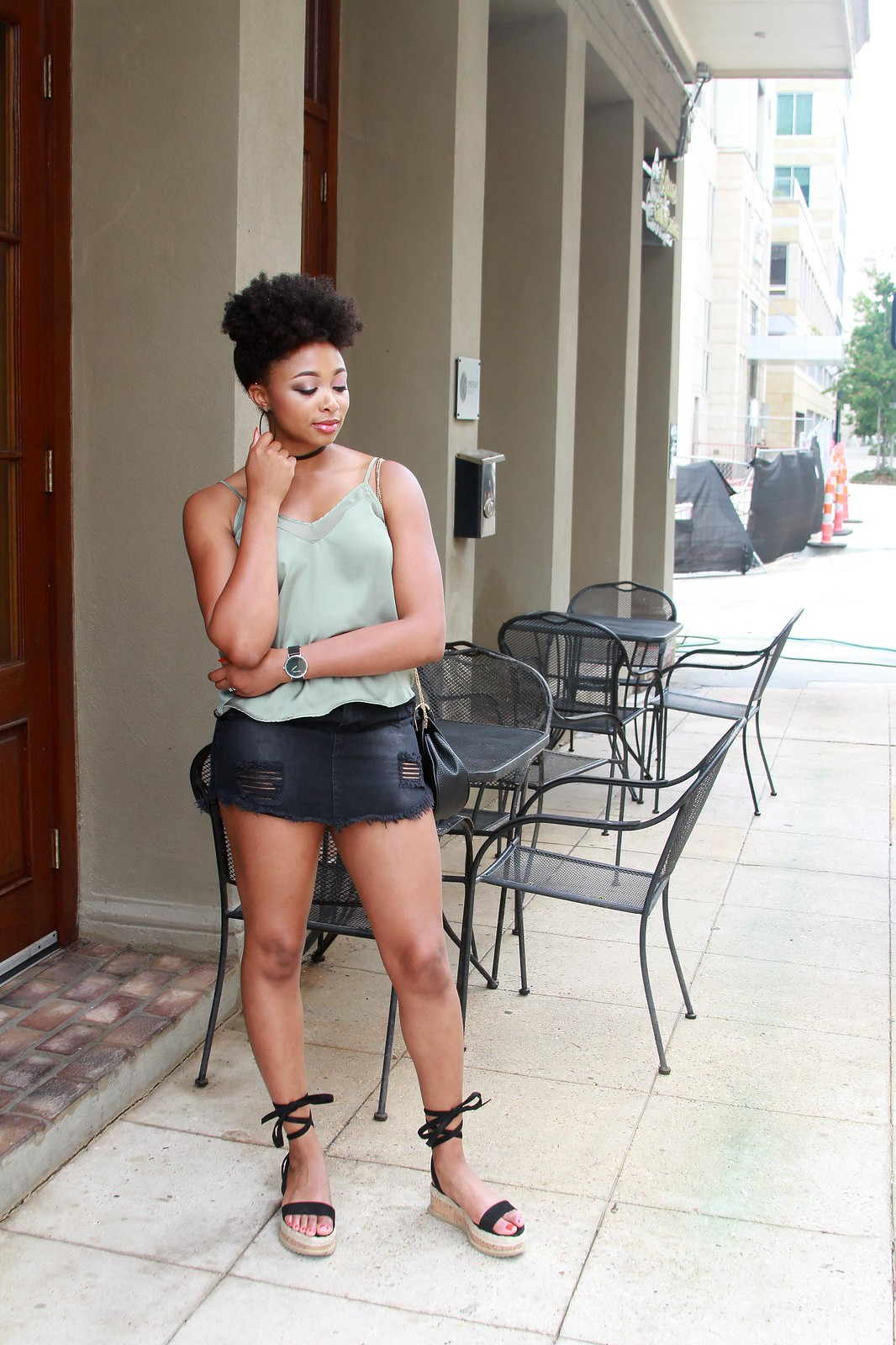 natural hair fashion blogger, candace hampton