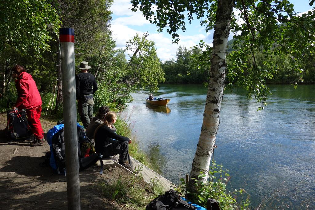 Boat transport to Kvikkjokk arrives.
