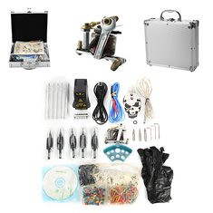 Senior Tattoo Coil Machine Kit EP-2 Power Supply Skull Pattern Pedal Suit (1082457) #Banggood