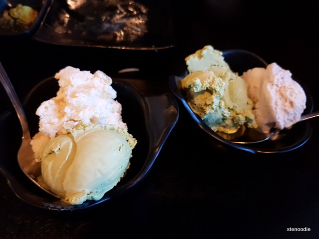 Ginger Ice Cream and Green Tea Ice Cream