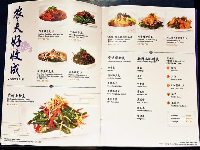 Menu Vegetables