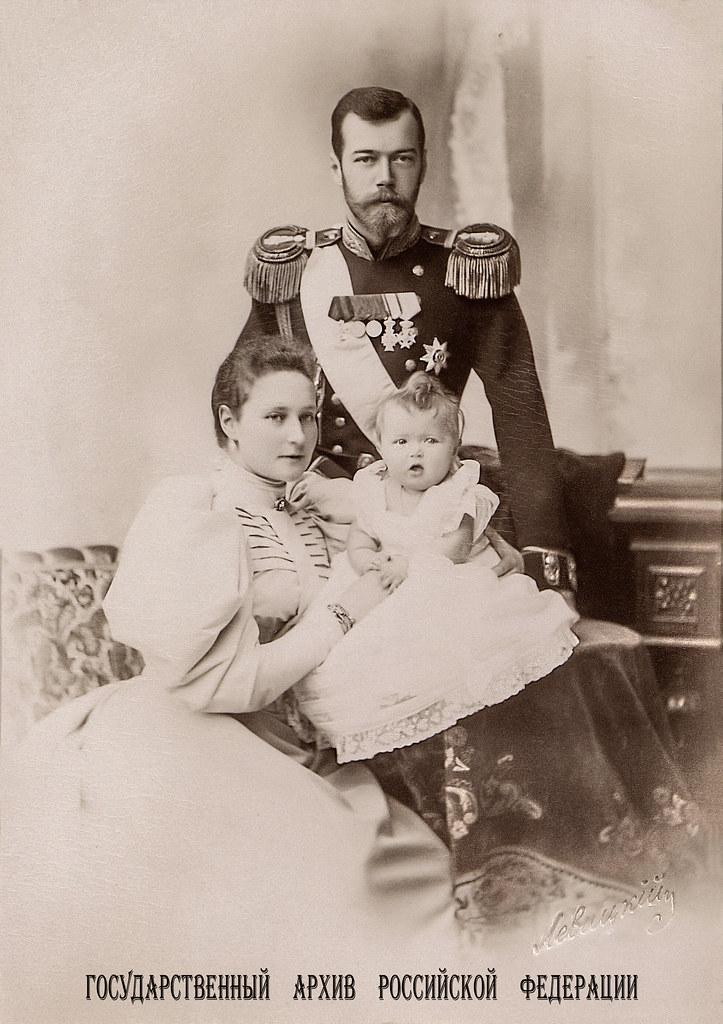 Emperor Nicholas II and Empress Alexandra Russian Romanov Royalty Postcard