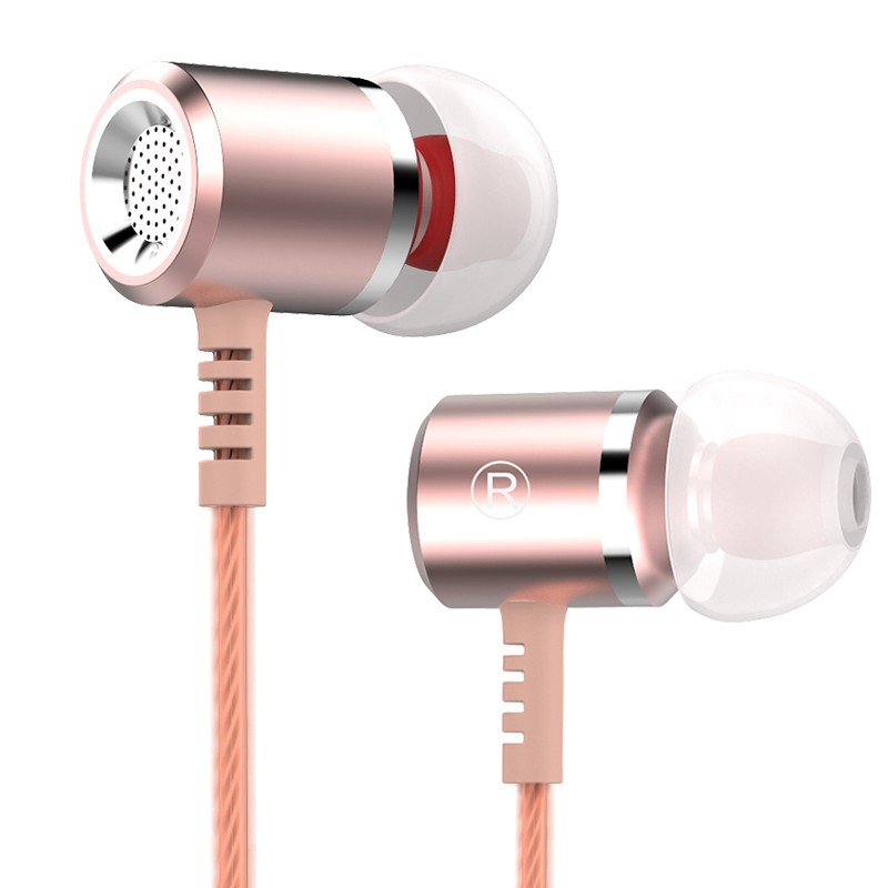 Rose-Gold-Original-Earphones-Head-phones-Metal-MIC-Microphone-3-5MM-Stereo-Bass-Auriculares-For-iphone