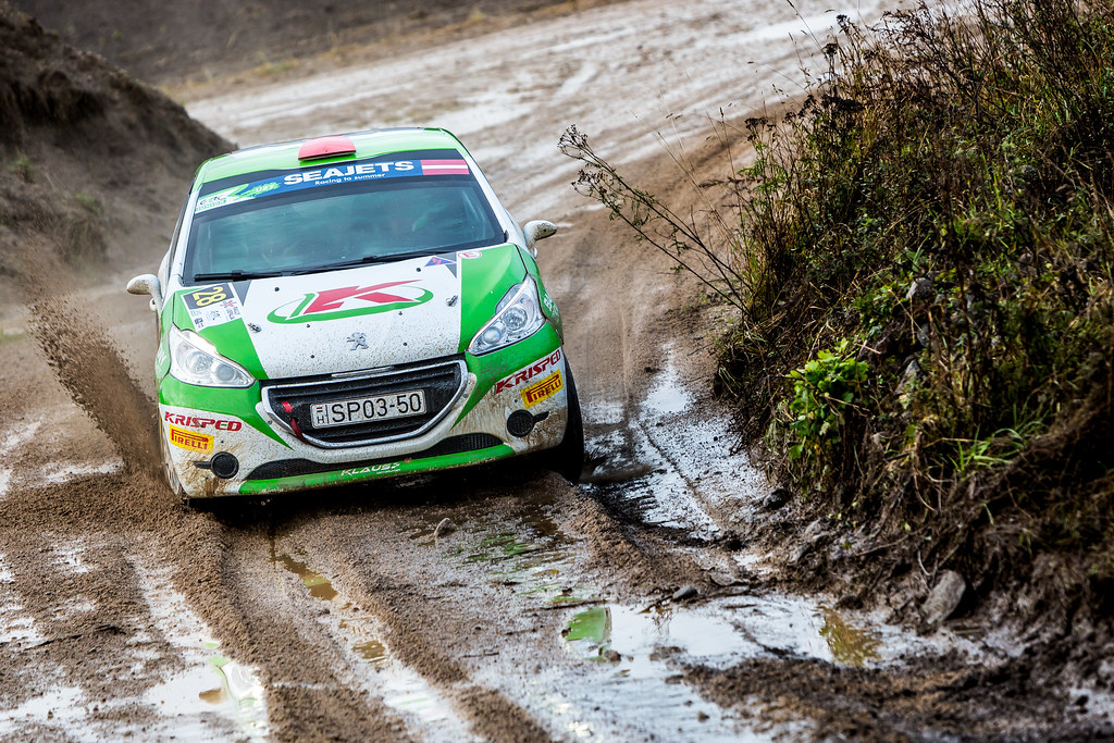 28 Klausz Kristof and Csanyi Botond, Klaus Motorsport, Peugeot 208 R2 ERC Junior U27 action during the 2017 European Rally Championship ERC Liepaja rally,  from october 6 to 8, at Liepaja, Lettonie - Photo Thomas Fenetre / DPPI