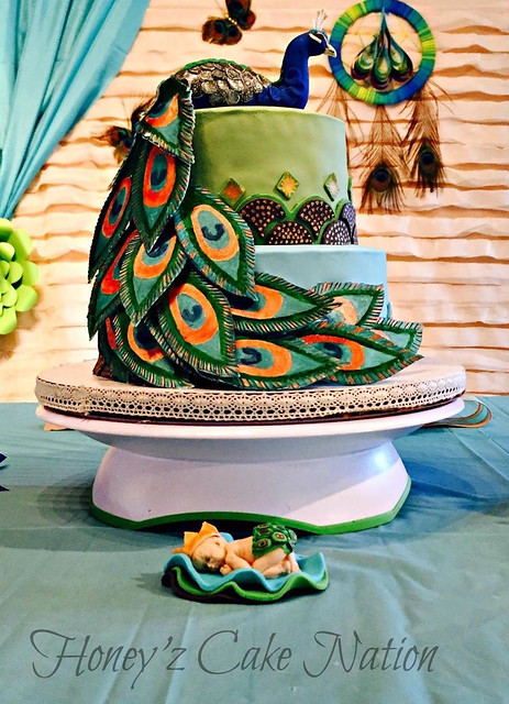 Peacock Themed Cake by Harshini Kannegolla of Honey'z Cake Nation