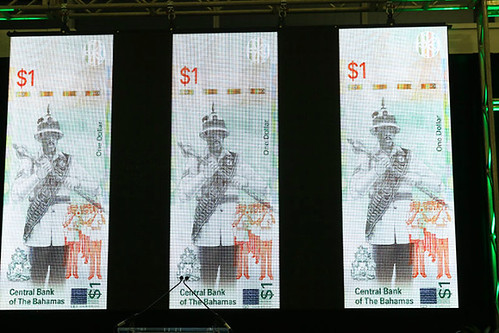 Bahamas One Dollar Banknote unveiling2