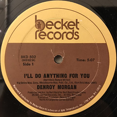 DNEROY MORGAN:I'LL DO ANYTHING FOR YOU(LABEL SIDE-A)