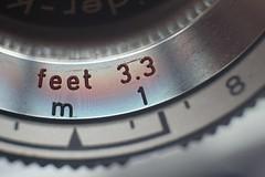 Seeing the Rainbow  - Macro - Kodak Retinette IA (044 300S) - Focus scale detail
