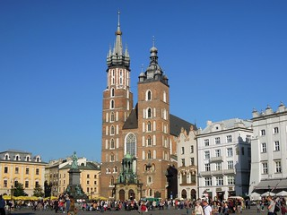 Poland (Krakow) St. Mary's Basilica in the Market Squaret