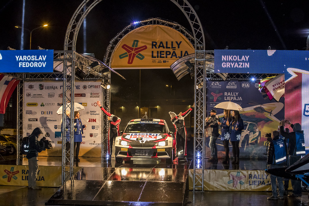 05 Gryazin Nikolay and Fedorov Yaroslav, Sports Racing Technologies, Škoda Fabia R5 ERC Junior U28 action during the 2017 European Rally Championship ERC Liepaja rally,  from october 6 to 8, at Liepaja, Lettonie - Photo Gregory Lenormand / DPPI
