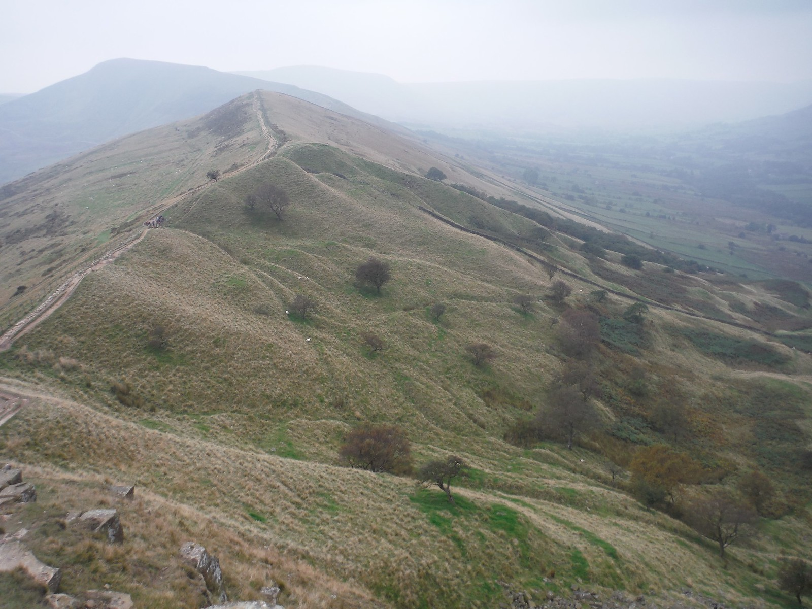 View from Back Tor along The Great Ridge SWC Walk 302 - Bamford to Edale (via Win Hill and Great Ridge)