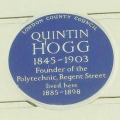 Photo of Quintin Hogg blue plaque