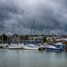Ryde Marina - before the storm