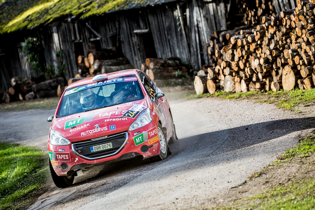 24 Kupec Karel and Osicka Vladimír, Botka - Tlustak Racing, Peugeot 208 R2 ERC Junior U27 action during the 2017 European Rally Championship ERC Liepaja rally,  from october 6 to 8, at Liepaja, Lettonie - Photo Thomas Fenetre / DPPI