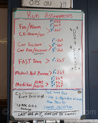 Run Assigments Board, Northvale Fire Station, New Jersey