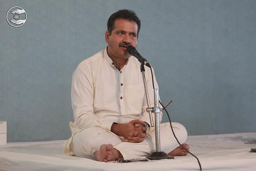 Stage Secretary, Manish Khanna from Sant Nirankari Colony, Delhi