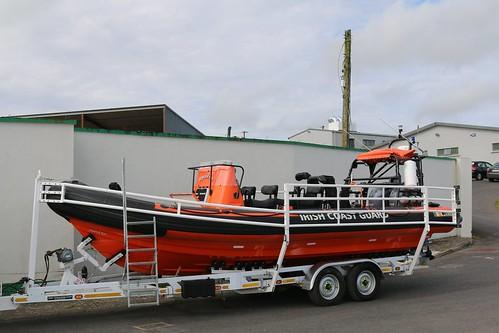 25th September 2017. Irish Coast Guard Mystical Rose Rib Lifeboat at Killala, County Mayo, Ireland