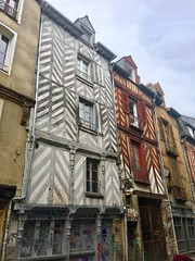Old town in Rennes, France