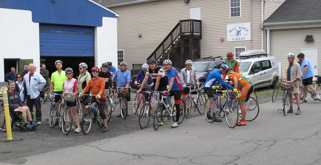 ae5077e2e4933 by Velo Classique Purcellville Fall Classic gathering at the shop.