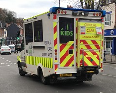 ST John ambulance-Meredes Benz sprinter-KIDS Critical care ambualance-AV61 JXB-XR142