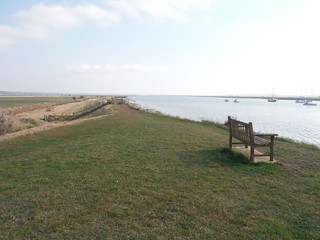Seawall on River Crouch, North Fambridge