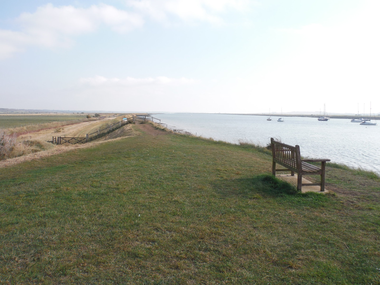 Seawall on River Crouch, North Fambridge SWC Walk 162 North Fambridge to Burnham-on-Crouch