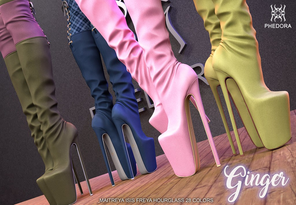 """Phedora. for Tres Chic Event- """"Ginger"""" boots! ♥"""