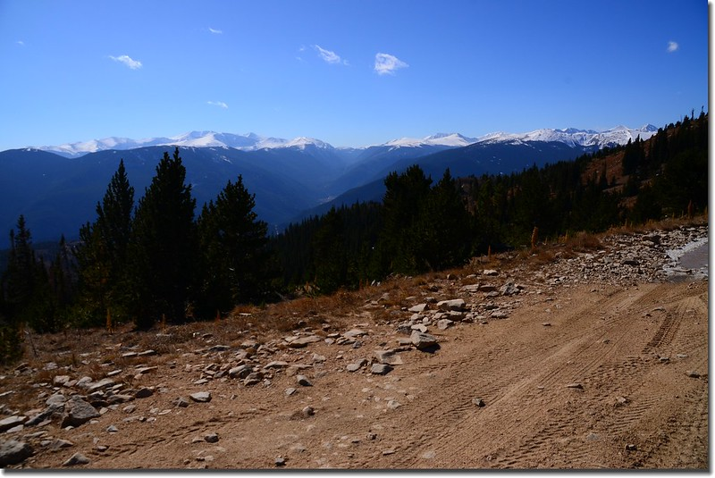 Looking South at Guanella Pass & Mount Evans et al. from Route 183.1 & 183.1C fork(11,100') 2
