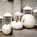 White Pumpkins and Lanterns