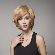 Elegant Short Wave Human Hair Wig Virgin Mono Top Remy Side Bang Capless (1063558) #Banggood
