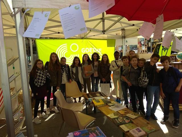 Des élèves de l'académie de Lyon se sont rendus à la fête du Livre version allemande de Saint-Étienne