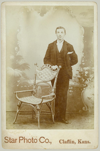 Cabinet Card Young Man and Chair