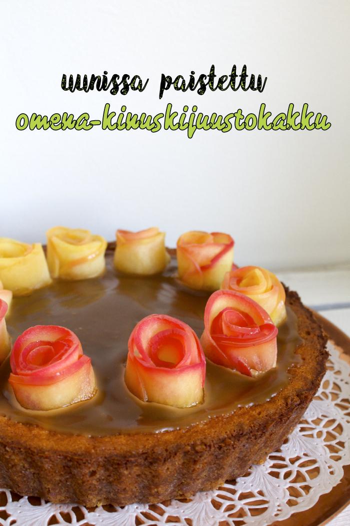 omena-kinuskijuustokakku