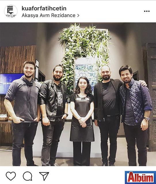 Alanya'nın ünlü kuaförü Fatih Çetin, AVEDA'nın daveti üzerine gittiği İstanbul'dan bu fotoğrafı paylaştı.