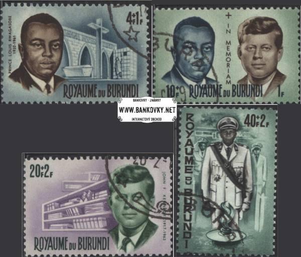 Známky Burundi 1966 Osobnosti, Kennedy, razítkovaná séria