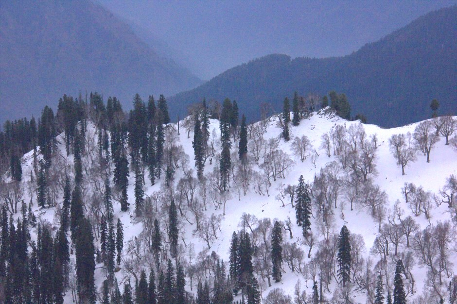 Snow peaks surround Gurez Valley