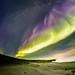 Rainy day of aurora borealis